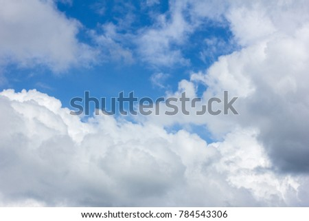 right sky with white clouds - Shutterstock ID 784543306