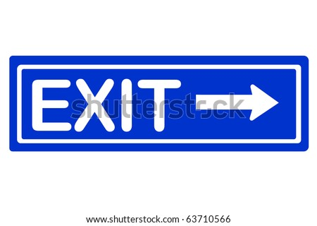 Right way exit traffic sign