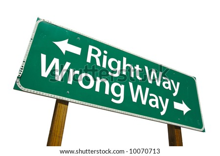 Ready to Understand Stock-photo-right-way-wrong-way-road-sign-isolated-on-white-10070713