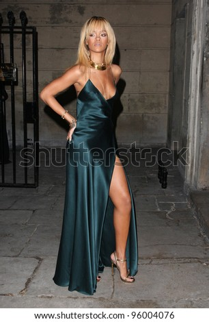 Rihanna arriving for Stella McCartney Winter 2012 London Eveningwear Presentation and Dinner, London. 18/02/2012 Picture by: Henry Harris / Featureflash - stock photo