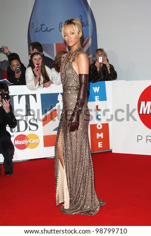 Rihanna arriving for the 2012 Brit Awards, at the O2 Arena, London. 21/02/2012 Picture by: Henry Harris / Featureflash