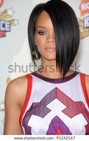 Rihanna at Nickelodeon's 20th Anniversary Kids' Choice Awards at UCLA's Pauley Pavilion in Los Angeles. March 31, 2007  Los Angeles, CA Picture: Paul Smith / Featureflash