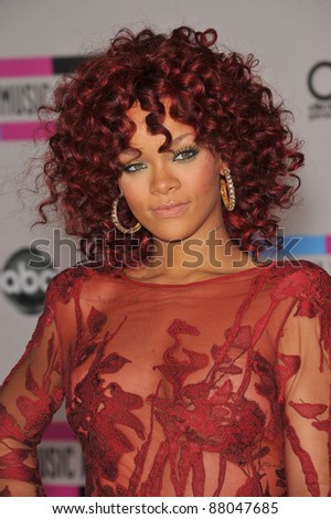 Rihanna at the 2010 American Music Awards at the Nokia Theatre L.A. Live in downtown Los Angeles. November 21, 2010  Los Angeles, CA Picture: Paul Smith / Featureflash
