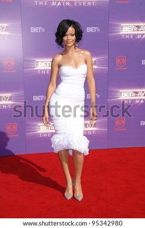 Rihanna at the 2007 BET Awards at the Shrine Auditorium, Los Angeles. June 26, 2007 Los Angeles, CA Picture: Paul Smith / Featureflash