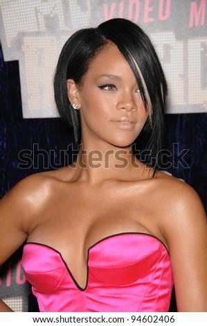 Rihanna at the 2007 MTV Video Music Awards at the Palms resort & Casino, Las Vegas. September 9, 2007 Las Vegas, NV Picture: Paul Smith / Featureflash - stock photo