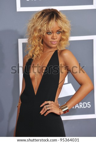 Rihanna at the 54th Annual Grammy Awards at the Staples Centre, Los Angeles. February 12, 2012  Los Angeles, CA Picture: Paul Smith / Featureflash - stock photo