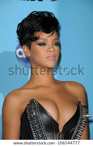 Rihanna  in the press room at the 2008 American Musica Awards. Nokia Theatre, Los Angeles, CA. 11-23-08