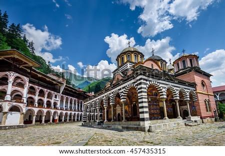 rila monastery  a famous...