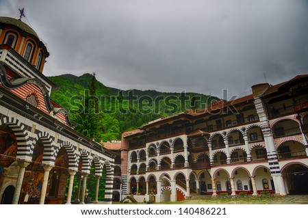Rila Monastery.The largest Orthodox monastery in Bulgaria.HDR image