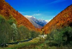 Rila mountain, Bulgaria in the autumn