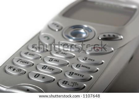 Rilievo di tasto del telefono delle cellule - stock photo