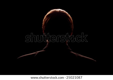 rim light back silhouette of man in suit