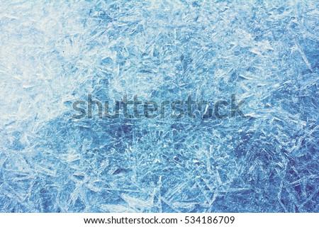 Stock Photo Rime, frost, ice texture.  ice pattern texture