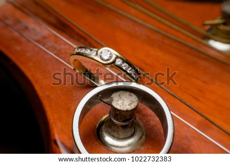 ring and guitar, wedding rings, Engagement rings, wedding ceremony #1022732383