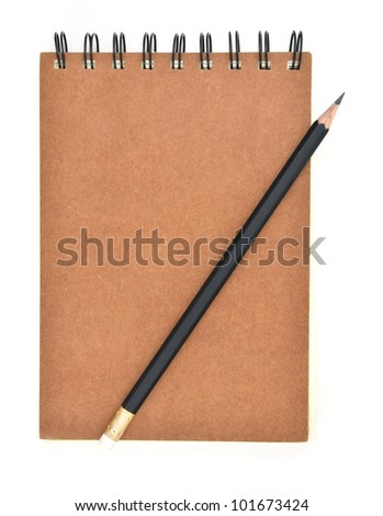 ring binder book and pencil