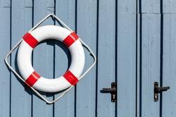 ring buoy at fishing lodge