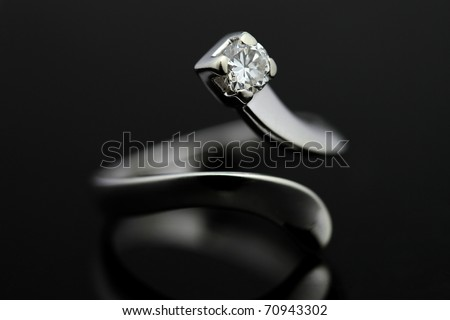 Ring in white gold and diamond