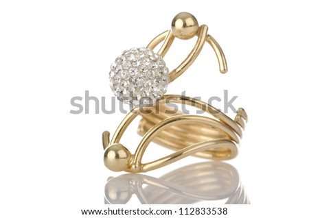 Ring isolated on white background