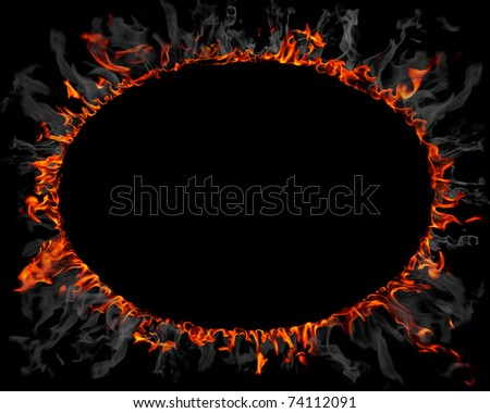 Ring made of fire and smoke