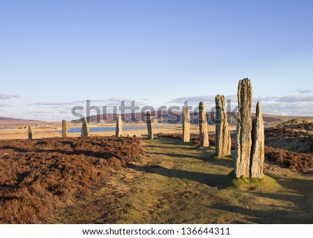 Ring Of Brodgar, Orkney. World Heritage Site.