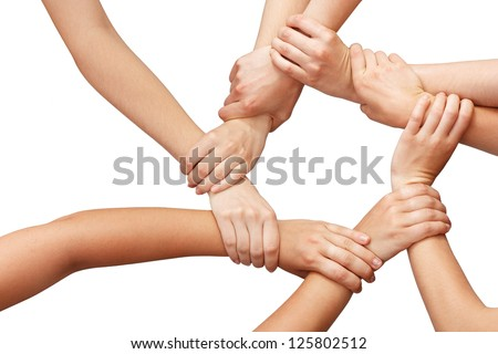 Ring of many hands teamwork