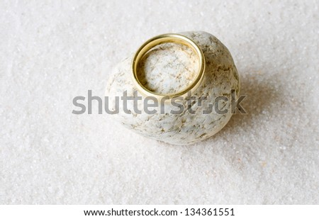 Ring on stone