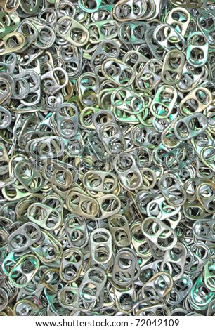 ring pull of cans for background