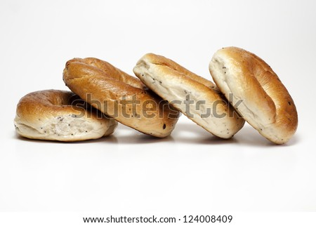 ring-shaped rolls with poppy seeds