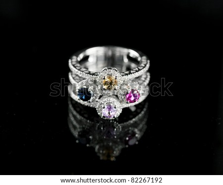 ring with colorful stones