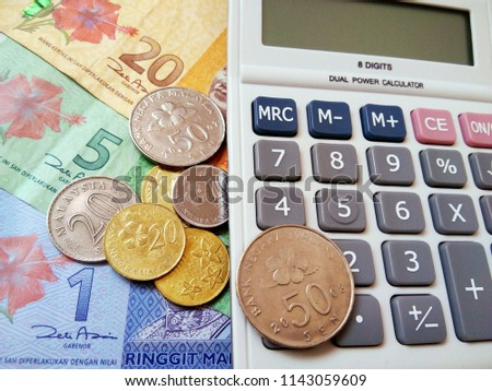 Free Photos Calculator And Malaysian Ringgit Currency Notes