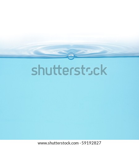 Rings on water isolated on white background - stock photo