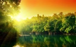 Rio amazonas, natureza maravilhosa, cachoeira