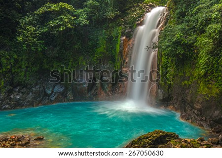 Shutterstock Rio Celeste Waterfall photographed in Costa Rica.