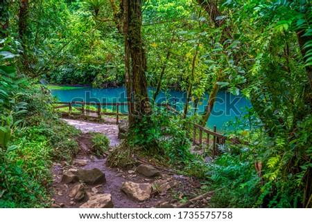 Rio Celeste with turquoise river, blue water. Tenorio national park Costa Rica. Central America. Foto d'archivio ©