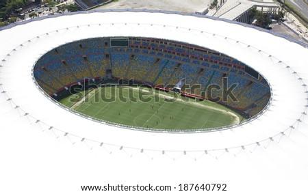 RIO DE JANEIRO BRAZIL FEBRUARY 28 2013 Aerial Photo of Maracana Stadium