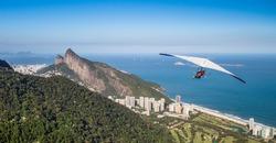 Rio de Janeiro, Brazil, hang gliding flight
