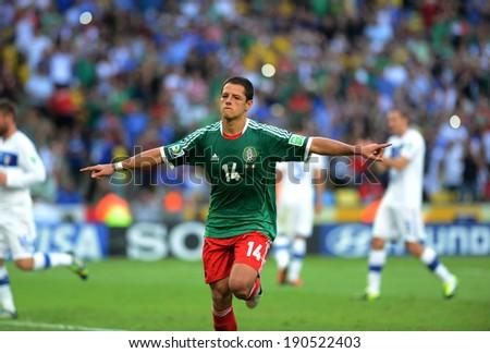 Rio de Janeiro Brazil June 18 2013-FIFA Confederations Cup 2013 match Italy and Mexico.
