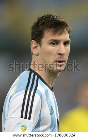 RIO DE JANEIRO BRAZIL June 15 2014 Lionel MESSI of Argentina during the 2014 World Cup Group F game between Argentina and Bosnia at Maracana Stadium