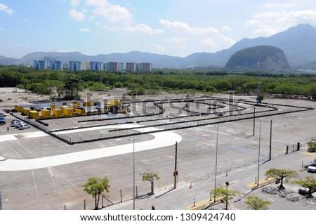 Rio de Janeiro, Brazil, October 28, 2014. Kartodromo of Via Park Shopping, located in the western part of the city of Rio de Janeiro. #1309424740