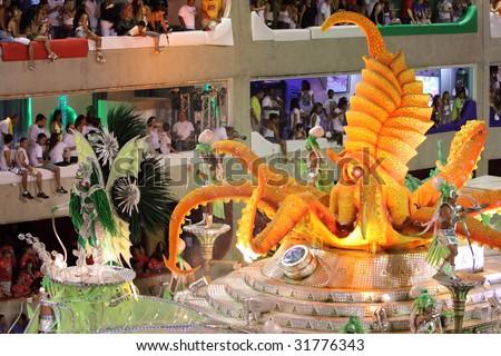 RIO DE JANEIRO - FEBRUARY 22: Brazilians celebrated the Rio Carnival in Sambadome February 22, 2009 in Rio de Janeiro, Brazil. The Rio Carnival is the biggest carnival in the world.