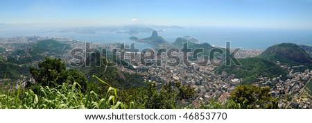 Rio de Janeiro from the top of corcovado, Brasil