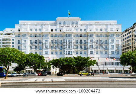 RIO DE JANEIRO - MARCH 11: Copacabana Palace Hotel on March 11, 2012 in Rio de Janeiro. The Copacabana Palace Hotel is the most famous and luxurious hotel in Rio de Janeiro, Brazil