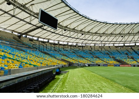 RIO DE JANEIRO MARCH 04 The Maracana was partially rebuilt in preparation for the 2014 World Cup and also the opening and closing ceremonies of the 2016 Summer Olympics on March 04 2014