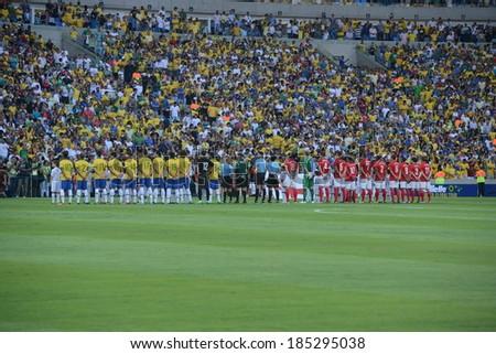 Rio de Janeiro May 20 2013 ENGLAND and Brazil in the Maracana stadium