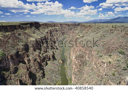 Rio Grande Gorge near Taos New Mexico, USA.