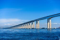 Rio Niteroi Bridge in Guanabara Bay, Rio de Janeiro, Brazil