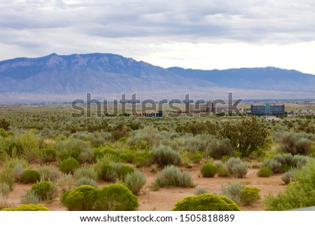 Rio Rancho, New Mexico desert landscape Сток-фото ©