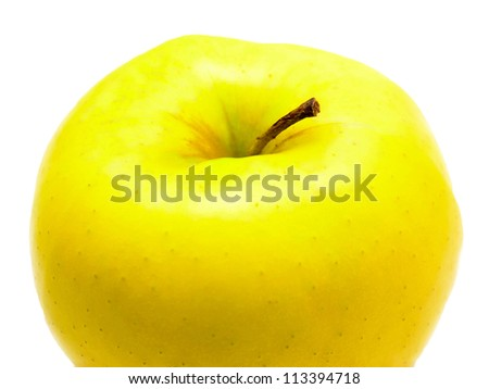 ripe apple isolated on white