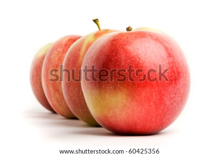 Ripe apples isolated on white