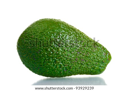 ripe avocado isolated on white